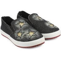 Do Bhai Women's Black Loafers - 113256347