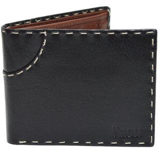 Knott Black/Brown exclusive Leather Wallet for Men