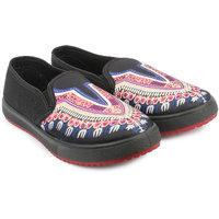 Do Bhai Women's Black Loafers - 113256778