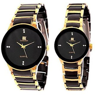IIK Collection Fancy Couple Watches Golden Black By Hans