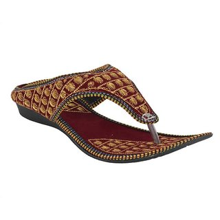 DFR Women Red Slippers