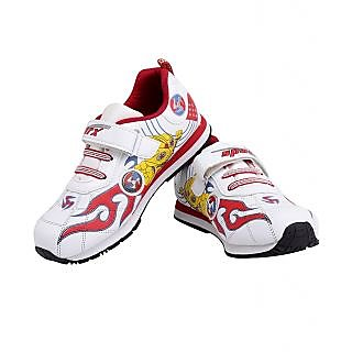 Sparx SX058VU White  Red Stylish Unisex Sports Shoes For Kids!