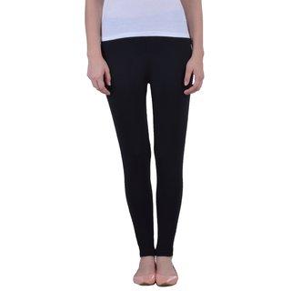 Dollar Missy Women'S Cotton Slim Fit Black Ankle Length Leggings