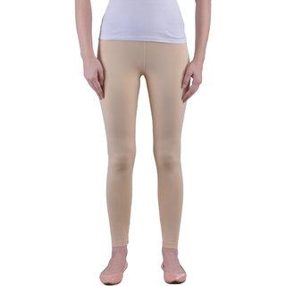 Dollar Missy Women'S Cotton Slim Fit Skin Black Ankle Length Leggings.