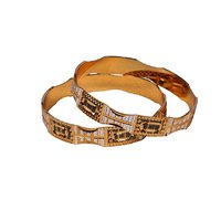Dwellkart Fancy Tow Tone Bangle JBA197