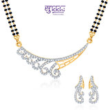 Sukkhi Exotic Cz Gold And Rhodium Plated Mangalsutra Set
