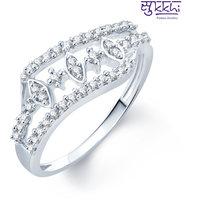 Sukkhi Alluring Rhodium Plated Cz Ring