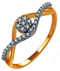 Sukkhi Gold Plated Cubic Zirconia (Cz) Silver,Gold Rings For-Women
