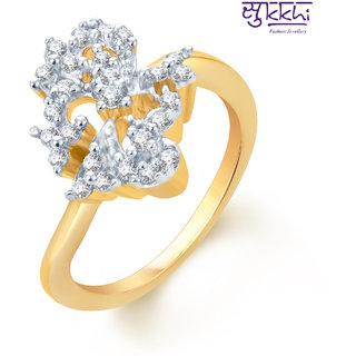 Sukkhi Gold Cubic Zirconia (CZ) Wedding Gold Foil Rhodium Plated Engagement Ring