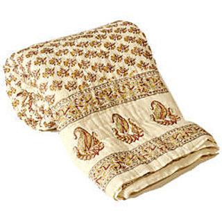 Jaipuri Single Bed Pure Cotton Quilt Rajai RAZAI by shoppingtara.com