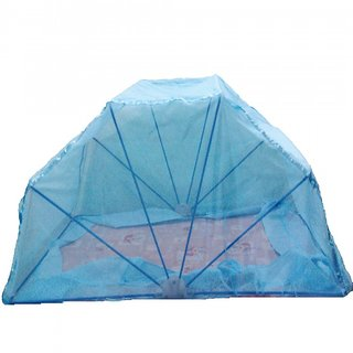 Ans Mosquito net 5x6 ft Double Bed Blue