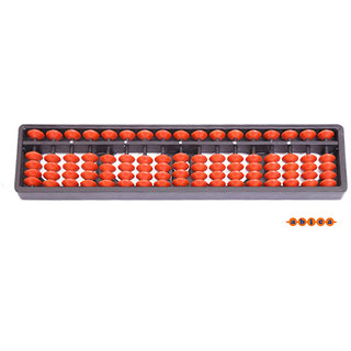 Abica Abacus math learning kit for kids brown 17 rod  ( pack of 1 )