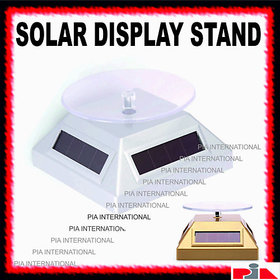 Solar Powered 360 Degree Revolving Rotary Display Stand