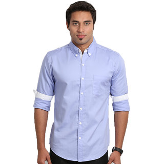 Nick&Jess Mens Button Down Collar Lycra Shirt