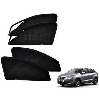 Premium Quality Zipper Magnetic Sun Shades Car Curtain For Maruti Suzuki Baleno