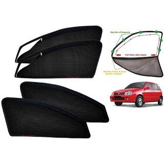 Premium Quality Zipper Magnetic Sun Shades Car Curtain For Zen Estilio