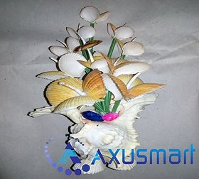 Flower Stand in chippy sea shell metrial by handicrafits hight 11.5inch width 7inch depth 4inch wight 500gm