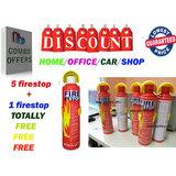 Combo Offer Fire Stop Spray For Car Home Office 5 Bottles+1 Bottle Free