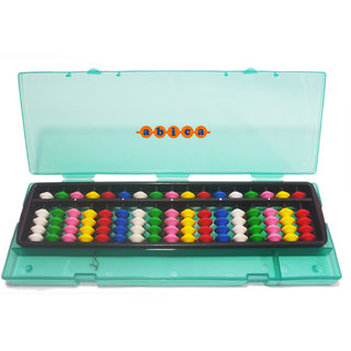 Abica Abacus math learning kit for kids multi color 17 rod with box ( pack of 1 )