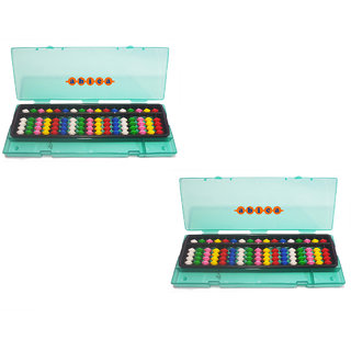 Abica Abacus math learning kit for kids multi color 17 rod with box ( pack of 2 )