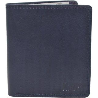 Knott Blue Trendy Leather Wallet for Men