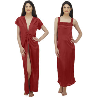 7ad95e1a1b Buy Arlopa 2 Pieces Nightwear Robe aand Nighty In Satin Online - Get ...
