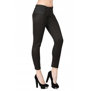 Westrobe Womens Trendy Black Stretchable Pant
