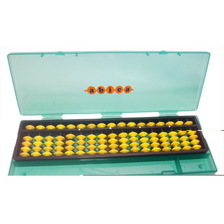 Abica Abacus math learning kit for kids yellow 17 rod with box ( pack of 1 )
