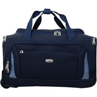 Timus Morocco Blue 2 Wheel Duffle Trolley Bag For Travel (Cabin -Small Luggage)