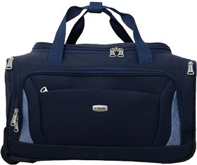 Timus Blue Polyester Duffel Bag (2 Wheels)