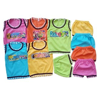 Sonpra Baby soft Cotton T-Shirts Shorts Baba Suits Combo Set