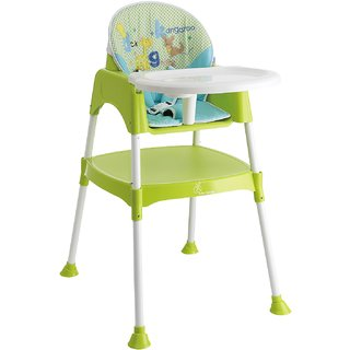 Cherry Berry - The Convertible High Chair (With Cushion) (Bottle Green)