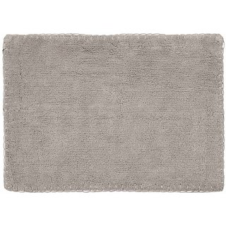 Eurotex Cotton Grey Colored Bath Mat (60 cms X 40 cms)