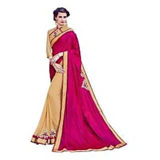 DesiButik Multicolor Silk Embroidered Saree With Blouse