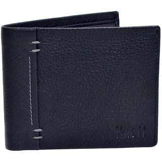 Knott Navy Blue Exclusive Leather Wallet for Men