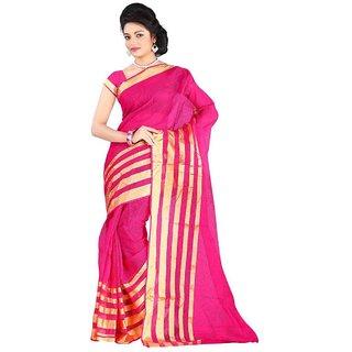 Sareeka Sarees Pink Cotton Printed Saree With Blouse