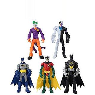 43658cea6690 Gotham City All Star Batman Robin Joker TwoFace Loose Action Figure  Multicolor