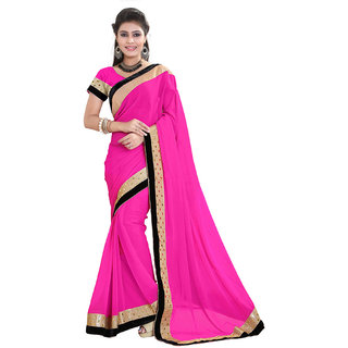 Sareeka Sarees Pink Georgette Printed Saree With Blouse