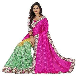 Sareeka Sarees Pink Silk Printed Saree With Blouse