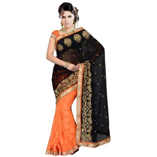 Sareeka Sarees Multicolor Georgette Printed Saree With Blouse