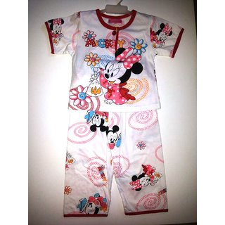 4cf0ce770e4 Online Cute Mickey Mouse Printed Night Suits for kids - Size 2 Year Prices  - Shopclues India