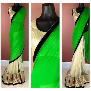 Fancy Georgette And Net Sarees