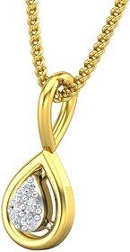 Jewel Hub Certified Diamond Sparkling Pendant 0.02 ct / 0.36gm 18k Yellow Gold-JPT1853