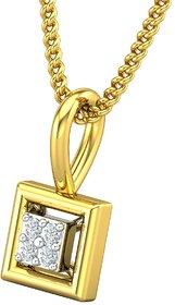 Jewel Hub Certified Diamond Sparkling Pendant 0.02 ct / 0.39gm 18k Yellow Gold - JPT1856