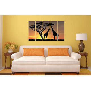 Asmi Collections Beautiful Giraffe in A Jungle Wall Paintings Stickers