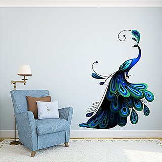Asmi Collections Beautiful Peacock Wall Sticker