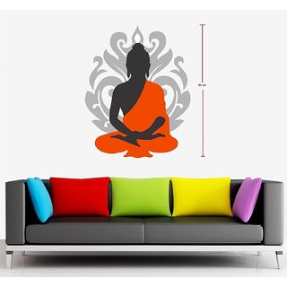 Asmi Collections Wall Stickers Beautiful God Buddha
