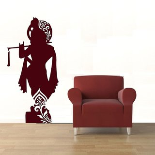 Asmi Collections Wall Stickers Krishna with Flute