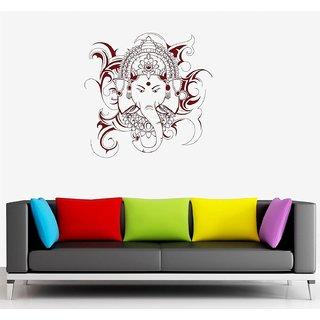 Asmi Collections Wall Stickers Beautiful God Ganesha - Dark Brown