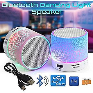 Portable Wireless LED Bluetooth Speaker With  USB Slot for Music Plug  Play- MP3 Player - Aux Port - 3.5MM Audio Jack